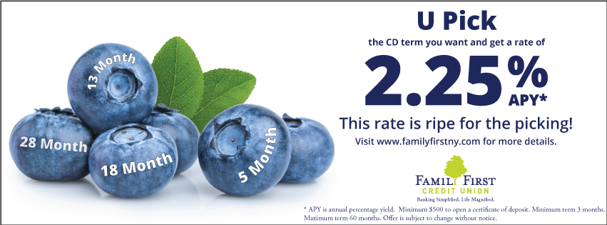U pick the CD term you want and get a rate of 2.25% APY