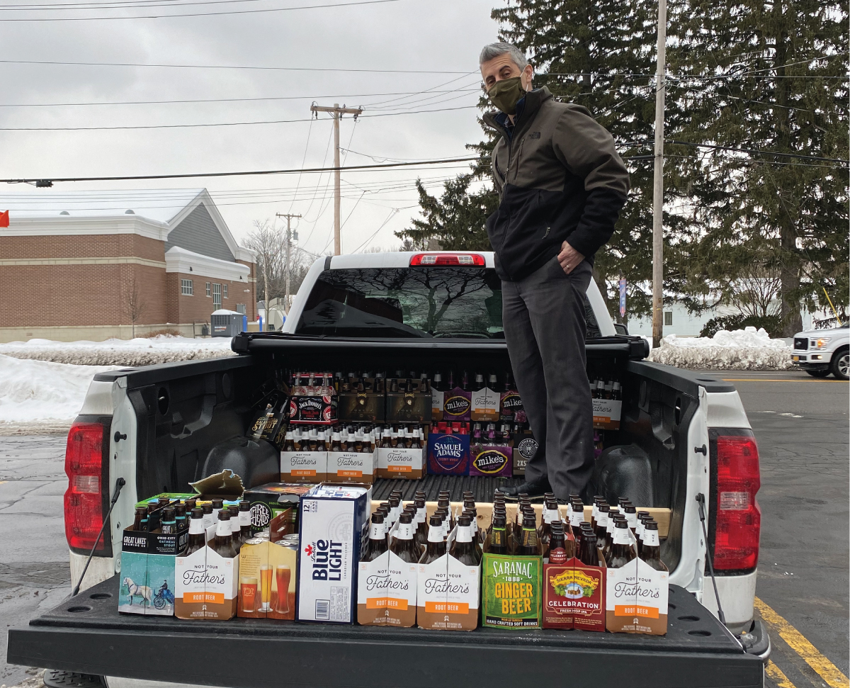 Snapshot of Joe, our IT Manager, dropping off bottles and cans at Can Kings