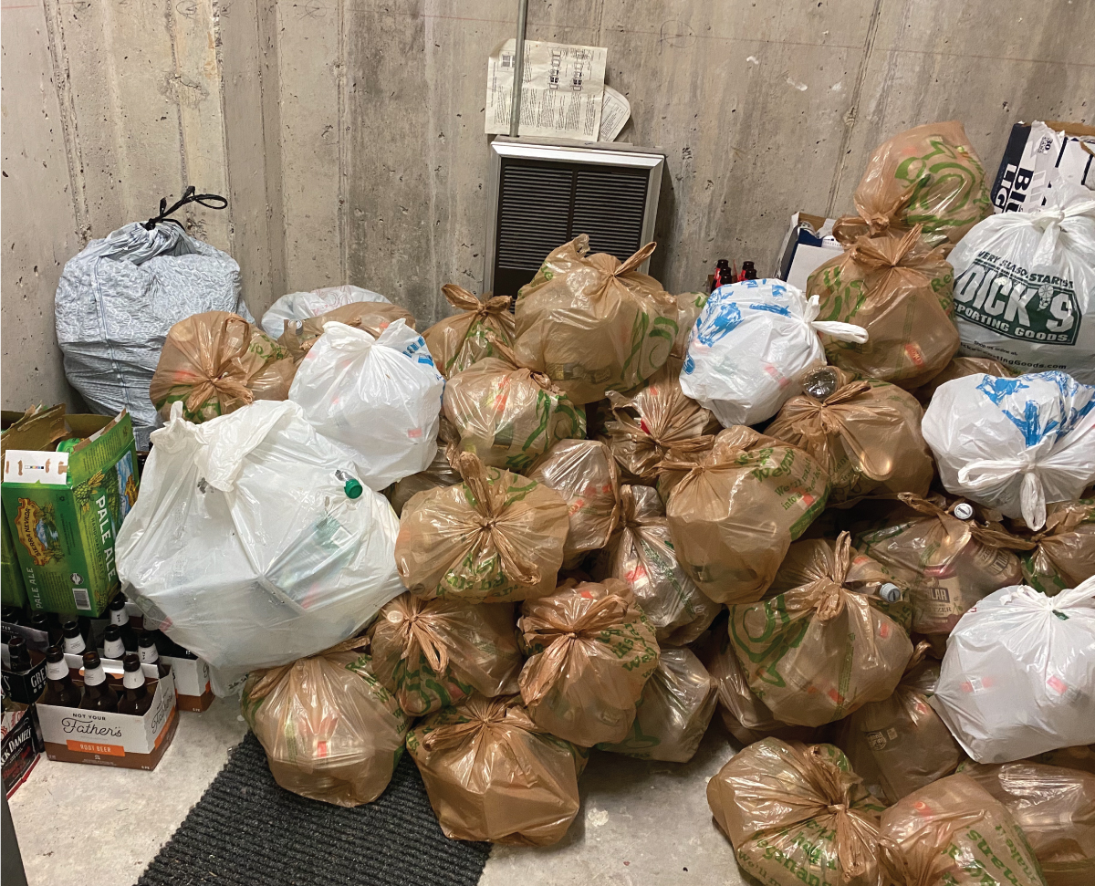 Just some of the bags we collected at our Penfield Branch after the Super Bowl!